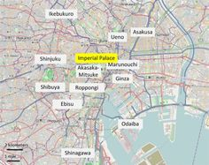 Tokyo hotel map - which neighbourhood to stay in in tokyo