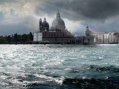 La Basilique Santa Maria della Salute à Venise, Italie.