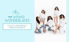 Enter for a chance to win a Fifth Harmony flyaway in Vevo's Winner Wonderland sweeps!
