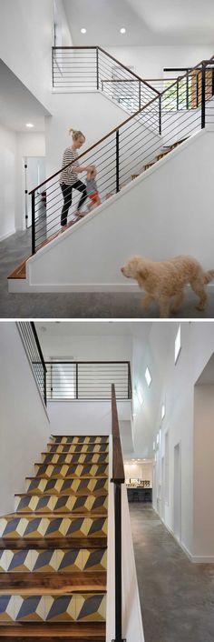 Matt Fajkus Architecture have designed a home for a family in Austin, Texas. Beautiful Architecture, Interior Architecture, Interior Design, Railing Design, Staircase Design, Home Inside Design, Austin Texas, Interior Railings, Stair Steps