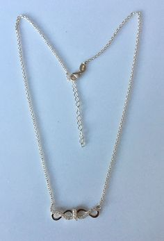 Sterling silver Double Infinity Necklace-Delicate Silver and zirconias Necklace-collar doble infinito plata 925 y zirconias de Silverandme en Etsy