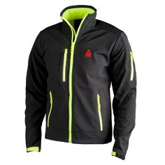 IRONMAN Official Merchandise :: IRONMAN Men's M-DOT Softshell Jacket - Black/Lime