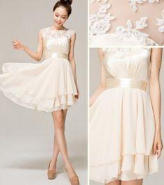 Vestidos de novia listones Organza Mini fiesta, Simple Prom vestidos, vestido fucsia de coctel, vestido