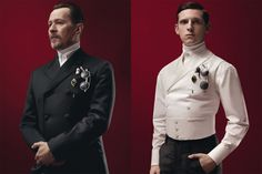 The Prada Menswear Fall/ Winter 2012 Collection, modeled by Gary Oldman, Garrett Hedlund, Jamie Bell, and Willem Dafoe
