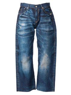 54be7cbd0b Junya Watanabe Comme Des Garçons Wide Leg Cropped Jeans - L eclaireur -  Farfetch.
