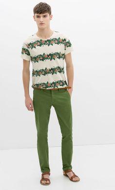 Zara Hombre: Pantalones de algodón, lino, pitillo y chinos en la colección Primavera Verano 2014