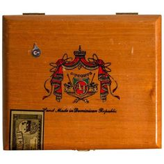 Arturo Fuente Cuban Corona Maduro Cigars Box ($99) ❤ liked on Polyvore featuring home, home decor, small item storage, boxes, handmade box and handmade home decor