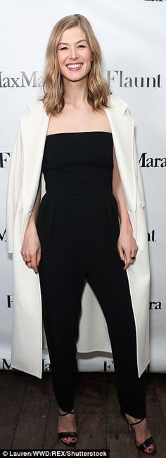 Look chic in Rosamund's Max Mara coat. Click 'Visit' to buy now. #DailyMail