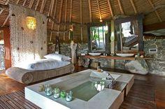 Exotic bathroom that feels like a tropical spa