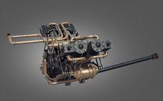 Engine, steampunk engine
