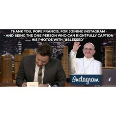It's official; Pope Francis is here! #Dareyoyeledun #Greatness #FallonTonight #PopeFrancis #Blessed #Vatican #Catholic #Papacy #Comics #Comedy #ComedyFestival #ComedyClubs #ComedyShows #ComedyFestivals #ComedyNights #ComedyLife #CCStandUp #ComedyClub #ComedyNight #Comedian #Comedians #ComedyCentral #ComedyTextPosts #Comic #ComedyShow #HuffpostComedy