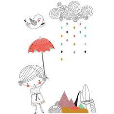 Stickers Une Belle Journee - Swantje & Frieda pour Poisson Bulle