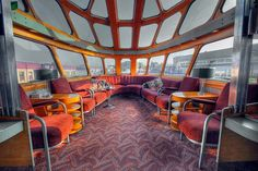 What to expect from a Private railcar? here's the lounge of one we did in Milwaukee, very Mad Men no? Find more on www.trainchartering.com