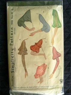 Simplicity 1506 | 1930s Sleeves Pattern