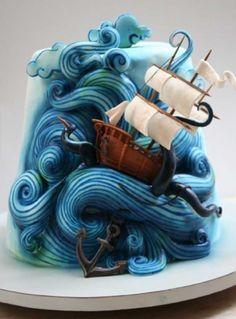 making crazy cakes Gorgeous Cakes, Pretty Cakes, Cute Cakes, Amazing Cakes, Crazy Cakes, Fancy Cakes, Unique Cakes, Creative Cakes, Super Torte