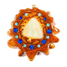 Opal Inlay with Multi-Glow | Third Eye Pinecones