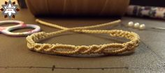 Macrame knotted spiral easy bracelet tutorial photo instructions steps how to knot