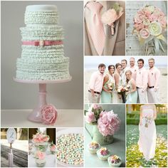 Pastel Pink and Mint Wedding