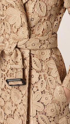 Swiss-Woven Macramé Trench Coat | Burberry