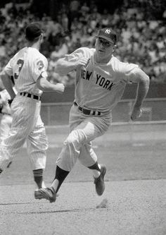 Mickey Mantle headed for home.