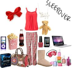 """""""Sleepover"""" by karacoyote21 on Polyvore"""