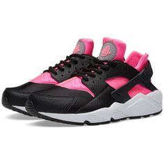 Nike W Air Huarache Run ($130) ❤ liked on Polyvore featuring shoes, athletic shoes, cushioned shoes, breathable shoes, nike athletic shoes, lightweight shoes and light weight shoes