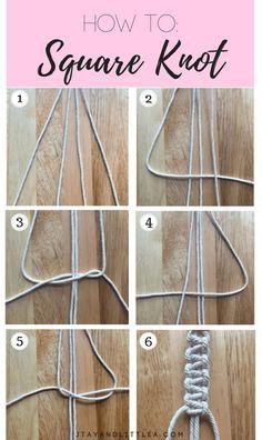 DIY Macrame Plant Hanger - DIY Macrame Plant Hanger DIY Macrame Plant Hanger, macrame knots, square knot, how to macrame, diy - Diy Friendship Bracelets Patterns, Diy Bracelets Easy, Bracelet Crafts, Braclets Diy, Hemp Bracelet Patterns, Diy Bracelets With String, Loom Bracelets, Macrame Patterns, Diy Bracelets Square Knot