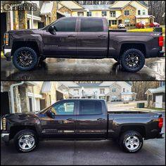 44573 12 2015 silverado 1500 chevrolet leveling kit fuel maverick black slightly…