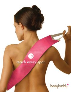 Hot Pink Back Lotion Applicator    SEXY BACK  Flawlessly apply sunless tanner to your own back! (we also recommend our mitts so that you don't have orange hands for your big night.) For even application make sure to exfoliate prior to applying your favorite brand of sunless/self tanner.    makes your last impression as good as your first! Also use for applying body shimmer.