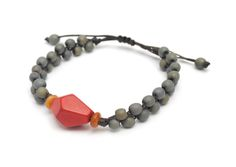 Woven Chirilla Seed and Faceted Tagua Bracelet - Sustainable Wholesale Idea in Burlington VT