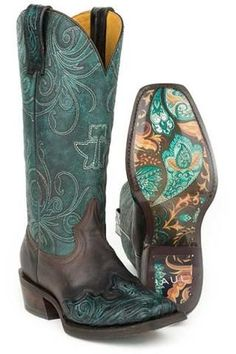 Tin Haul My Blue Heaven Paisley Sole Boots Urban Western Wear