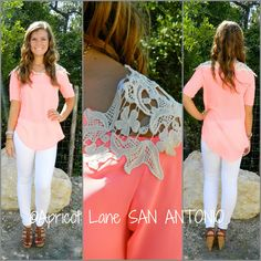 This neon top really pops.  Apricot Lane Boutique - San Antonio, TX