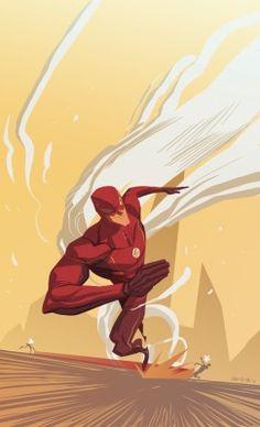 O flash por Dan Mora, via Behance Heros Comics, Dc Comics Art, Dc Heroes, The Flash, Flash Art, Comic Book Characters, Comic Character, Comic Books Art, Comic Art
