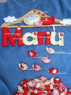Porta Maternidade anu + Lembrança de Maternidade Chaveiros de Passarinho