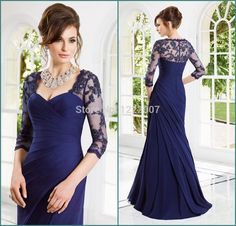 Find More Mother of the Bride Dresses Information about Gorgeous Vestido de casamento 1/2 Length Sleeve Royal blue Mother of the Bride Long Dresses with Jacket Mermaid Evening Dress,High Quality dress up christmas party,China dress strip Suppliers, Cheap dress hourglass from Dreamyfashion on Aliexpress.com