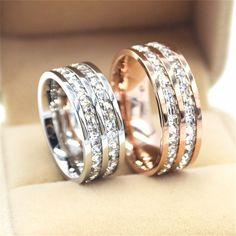 Anel Prata/Rosa d... Store Latina Tudo que necessita encontra Aqui! http://storelatina.com/products/anel-prata-rosa-de-ouro-de-titanio-de-aco-duplo?utm_campaign=social_autopilot&utm_source=pin&utm_medium=pin