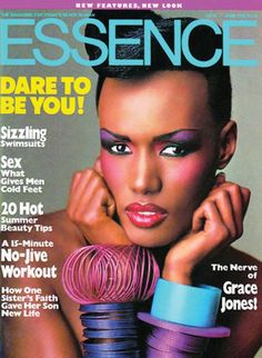 Grace Jones on the cover of Essence Magazine