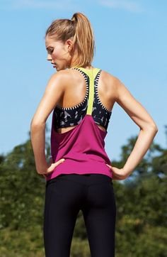 Nike Tank, Sports Bra & Capris  available at #Nordstrom