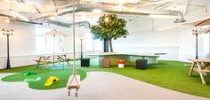 Slide Into Peer 1 Hosting's European Headquarters - Office Snapshots