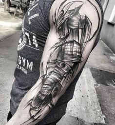 60 Reasons Why You Need A Sketched Tattoo Design - Sketch Style Tattoos - Tatouage Future Tattoos, New Tattoos, Body Art Tattoos, Tattoos For Guys, Sleeve Tattoos, Cool Tattoos, Tatoos, Samurai Tattoo Sleeve, Samurai Warrior Tattoo