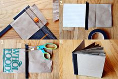 Make your own book--> binding with masking tape