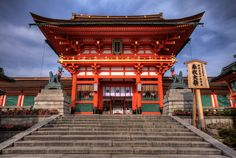 Fushimi Inari Taisha is the head shrine of Inari, located in Fushimi-ku, Kyoto, Japan. Places Around The World, The Places Youll Go, Places To See, Around The Worlds, The Beautiful Country, Beautiful Places, Fushimi Inari Taisha, Japanese Temple, Asian Architecture