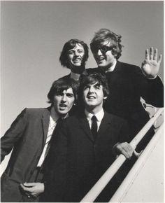 The Beatles at JFK , 1964  by Bill Ray.