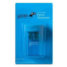 3111174e1 Two Hole Pencil Sharpener Blue - Yoobi™. School Supplies TargetOffice ...