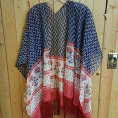 Maurices plus size kimono Worn twice. Perfect for summer outting. Pair with shorts and a tank. The colors and patterns speak for themselves! maurices Tops Blouses