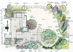 Planning A Garden Layout Landscapes Design Drawings From Our Portfolio Of Designs 668x480