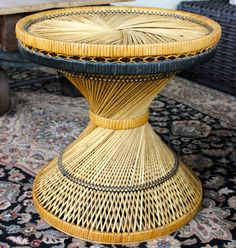 Hey, I found this really awesome Etsy listing at… Wicker Coffee Table, Victorian Bathroom, Pedestal Sink, Vintage Modern, New Room, End Tables, Furniture Decor, Rattan, Room Ideas
