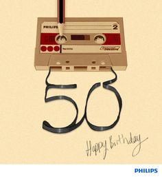 OMG Cassette Tape Format Is 50 Years Old. I released a cassette tape only release earlier this year but didn't realise it was so old. Want to make more, the sound quality is warm and comfortable on the ears. 50th Birthday Quotes, Birthday Posts, Happy 50th Birthday, Birthday Messages, Birthday Images, Birthday Greeting Cards, Birthday Greetings, Happy B Day, 50 Years Old