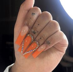 Drip Nails, Bling Acrylic Nails, Simple Acrylic Nails, Square Acrylic Nails, Almond Acrylic Nails, Best Acrylic Nails, Bling Nails, Acrylic Nail Designs, Glow Nails