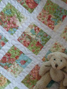 cute quilt - good idea for using up Nature's Chorus scraps